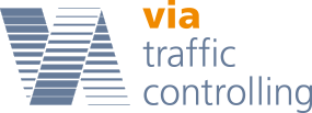 via traffic controlling Logo